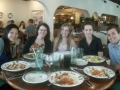 Mundell & Associates interns at dinner