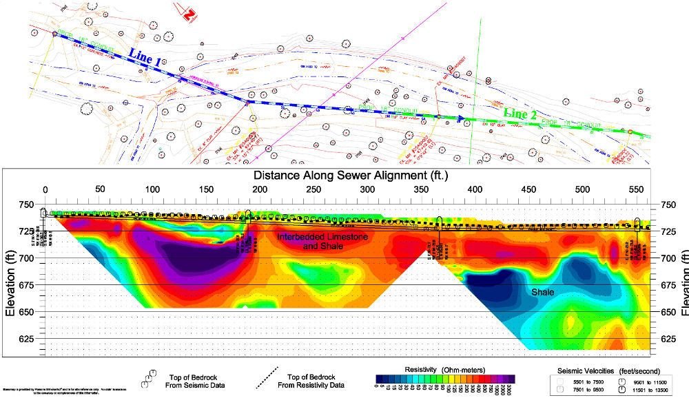 Bedrock Mapping Using Seismic Refraction and 2-D Resistivity ... on military mapping, laser mapping, satellite mapping, sonar mapping, gps mapping, impact mapping, habitat mapping, standard mapping, geological mapping,