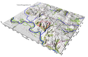 3-D Area Topography