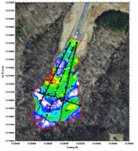Terrain conductivity map